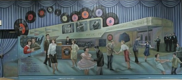 American Bandstand Mural at the Enterprise Center
