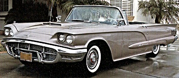 1960 thunderbird car