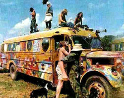 sixties hippie bus