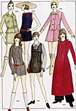 mini skirts and dresses from the 1960s