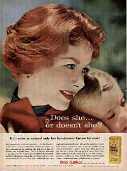 Old Clairol ad