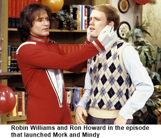 Robin Williams in Happy Days 1970s sitcom