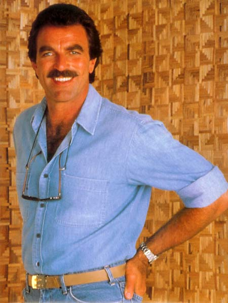 Tom Selelck in Magnum PI