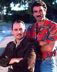 Tom Selleck and John Hillerman