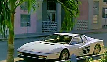 Miami Vice Ferrari White