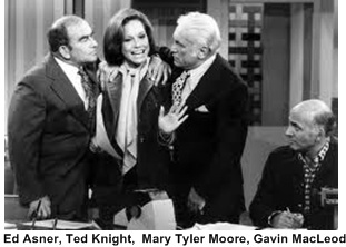 Ed Asner, Ted Knight, Gavin MacLeod, Mary Tyler Moore