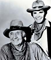 Walter Brennan and Dack Rambo