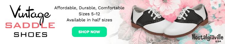 Buy saddle shoes at nostalgicstuffusa.com
