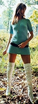 1960s miniskirt and boots