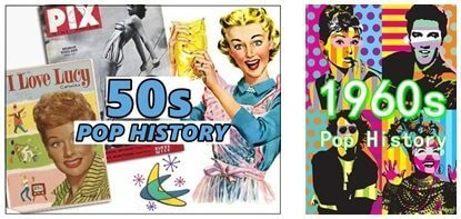 1950s and 1960s pop history