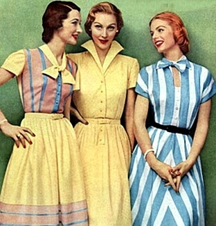 1950s everyday women's dresses