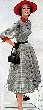 1950s swing style dress
