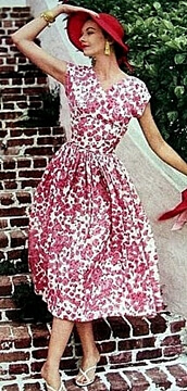 1950s Fashion swing dress
