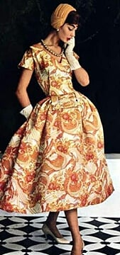 1950s fashion - women's dresses
