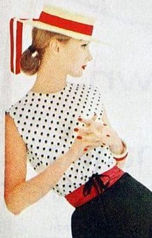 1950s fashion woman's blouse