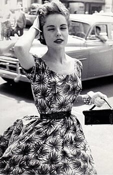 typical 1950's women's dress