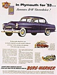 1950s cars - advertisement