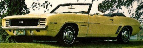 1969 Chevy Camero Camero R/S