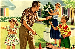 Image result for 1950s family values