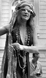 Janis Joplin in 1960s fashion