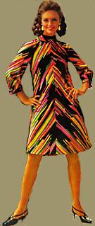 colorful 60s fashions