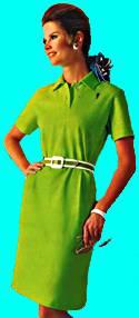 green 1960s dress