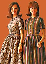 two 1960s casual day dresses