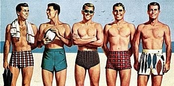 1950s mens swim trunks