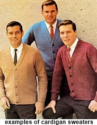 50s mens cardigan sweaters