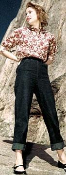 1960s pants - blue jeans