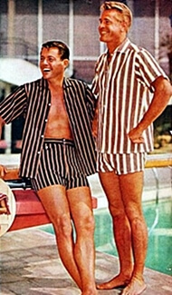 1950s men's swim trunks