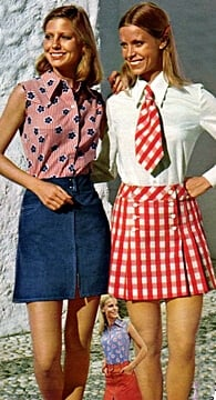 1960s fashion culottes and skorts