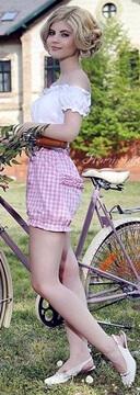 pink 1960s shorts