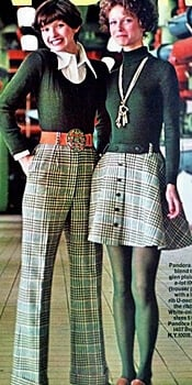 matching 1960s pants and skirt