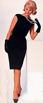 1960s Fashion - Basic Black Dress