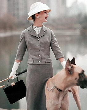 50s fashion outfit with hat