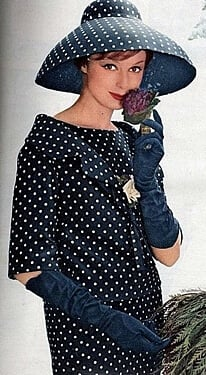 Designer hats were 1950s fashion