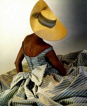 1950s summer hat