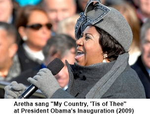 Aretha Franklin is a 1960s music icon